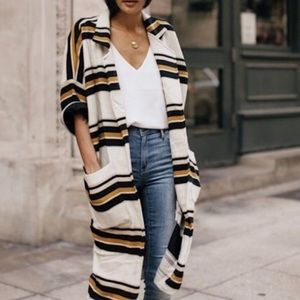 Anthropologie The Odell's stripe cocoon jacket